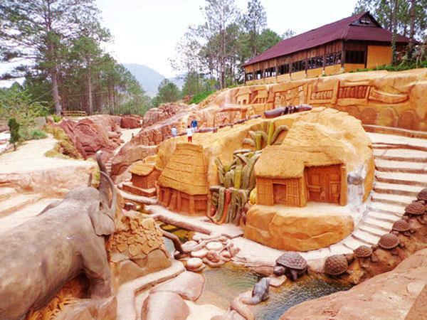 Du lịch Đà Lạt: Thác Giang Điền - Đà Lạt - Đường Hầm Điêu Khắc