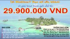 Tour Maldives 5N4Đ trọn gói, giá chỉ 29.900.000 VND